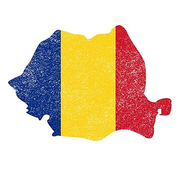 Romania Country with Romanian Flag by robcubbon