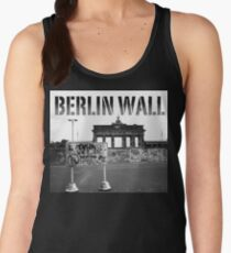 BERLIN WALL at the BRANDENBURG GATE W. GERMANY 1989 - PRO PHOTO Women's Tank Top