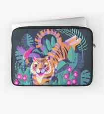 Jumping Tiger - Flying Toucan Laptop Sleeve