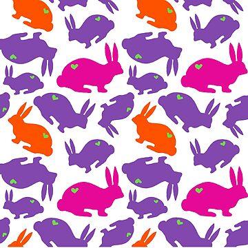 Colourful bunnies by ClaraFae