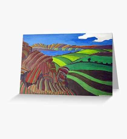 253 - AKELD FROM AKELD HILL - DAVE EDWARDS - ACRYLIC - 2009 Greeting Card