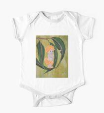 Australian Wattle baby on gumleaves One Piece - Short Sleeve