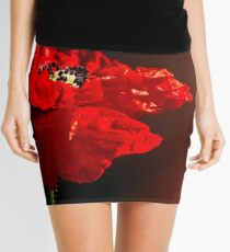 Red poppy 2 Mini Skirt