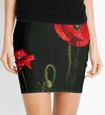Red poppy 1 Mini Skirt