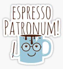 Funny Love Espresso Patronum Magic Coffee  Sticker