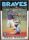 184 - Paul Runge by Foob's Baseball Cards