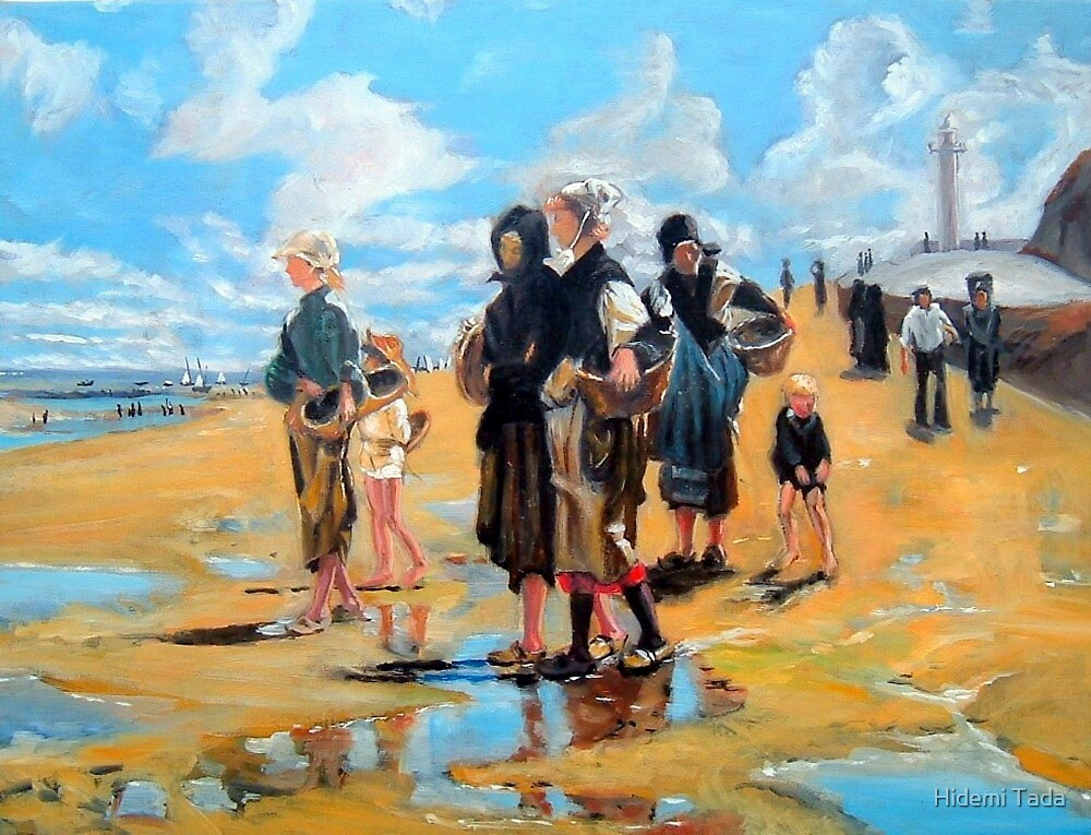 Oyster Gatherers of Cancale after Sargent  by Hidemi Tada