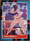 196 - Devon White by Foob's Baseball Cards