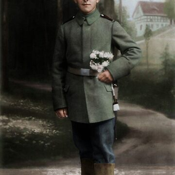 German soldier in Pirna, c. 1916 by cassowaryprods
