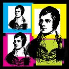 ROBERT BURNS, aka RABBIE BURNS, Scottish poet and lyricist by Clifford Hayes