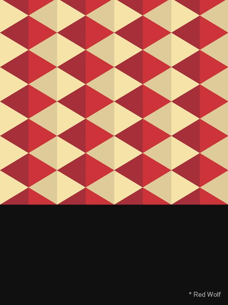 Geometric Pattern: Split Diamond: Red by redwolfoz