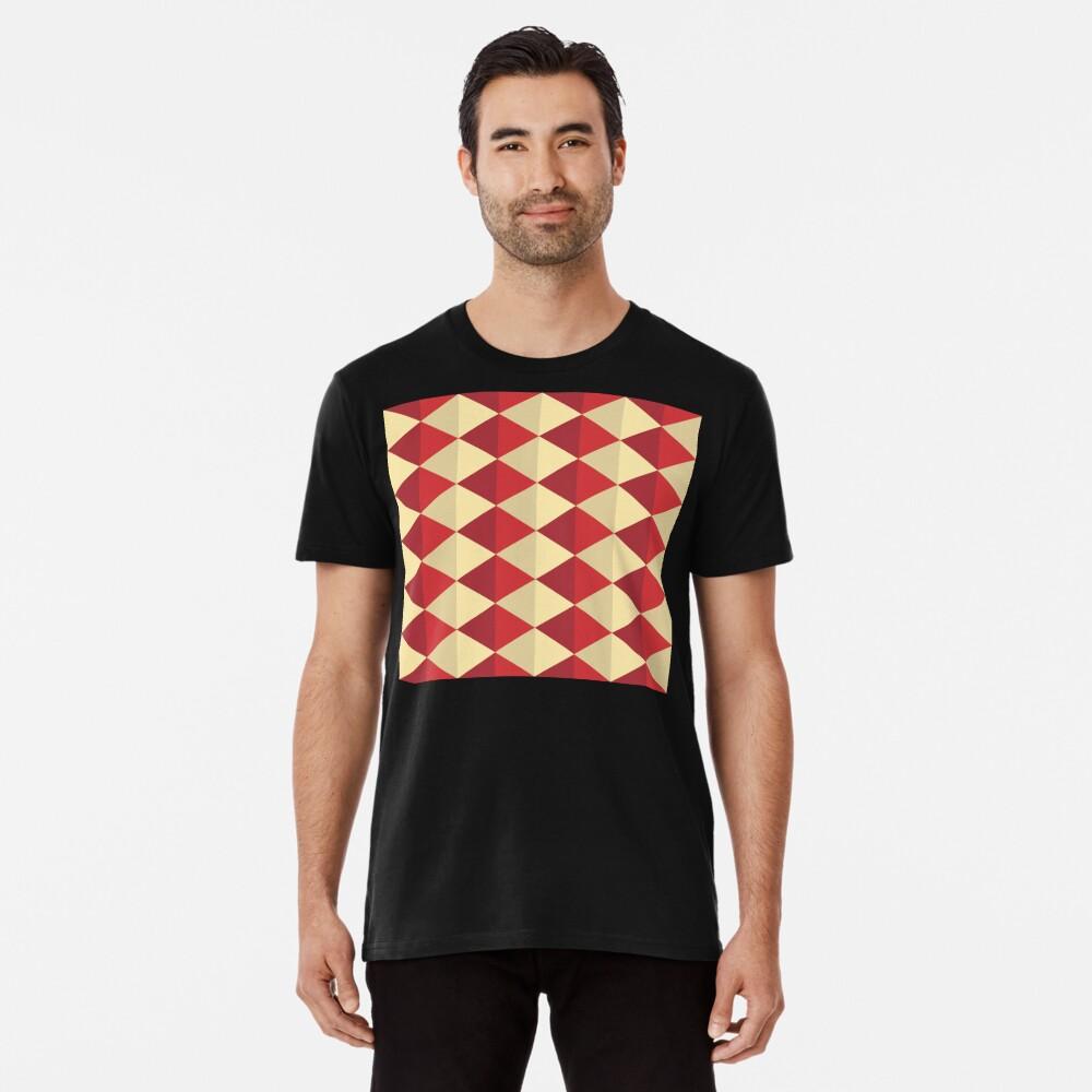 Geometric Pattern: Split Diamond: Red Premium T-Shirt
