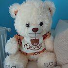 Teddy bear on the bed by Ana Belaj