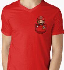 Tasche Mario T-Shirt T-Shirt mit V-Ausschnitt für Männer