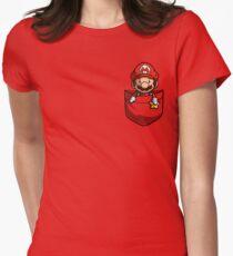 Pocket Mario Tshirt Women's Fitted T-Shirt