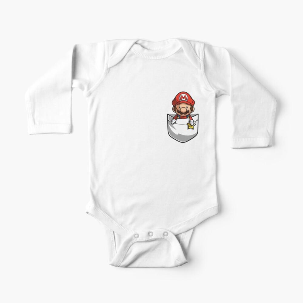 Pocket Mario T-shirt Body para bebé