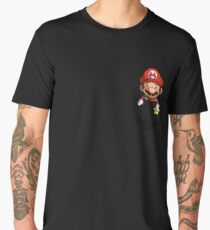 Pocket Mario Tshirt Men's Premium T-Shirt