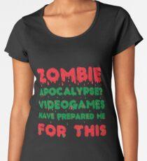 Zombie fan gift Women's Premium T-Shirt