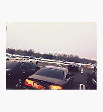 4:56, Rain soaked parking lot Photographic Print