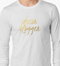 Decor Blogger - Faux Gold Foil Long Sleeve T-Shirt