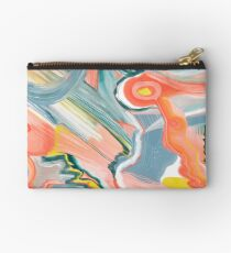 Summer carnival abstract art rainbow painting Studio Pouch
