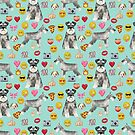 schnauzer emoji dog breed pet pure breed gifts by PetFriendly