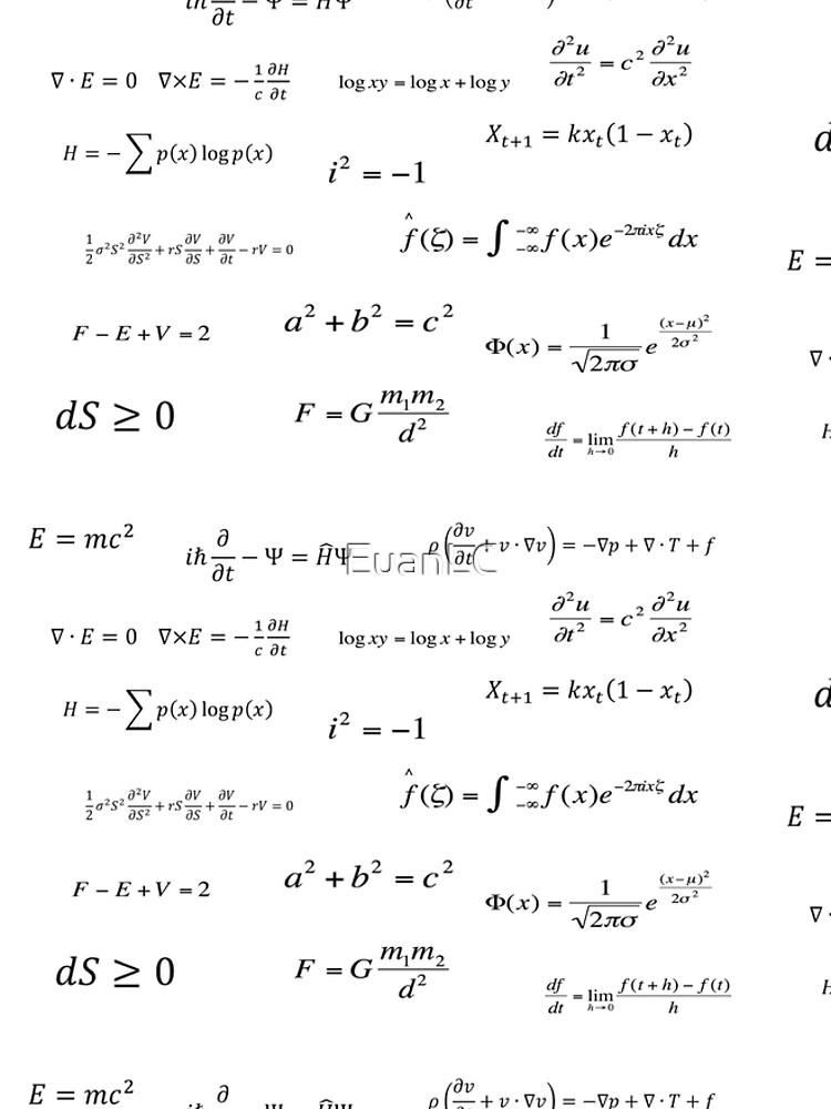 Ecuaciones matemáticas de EuanLC