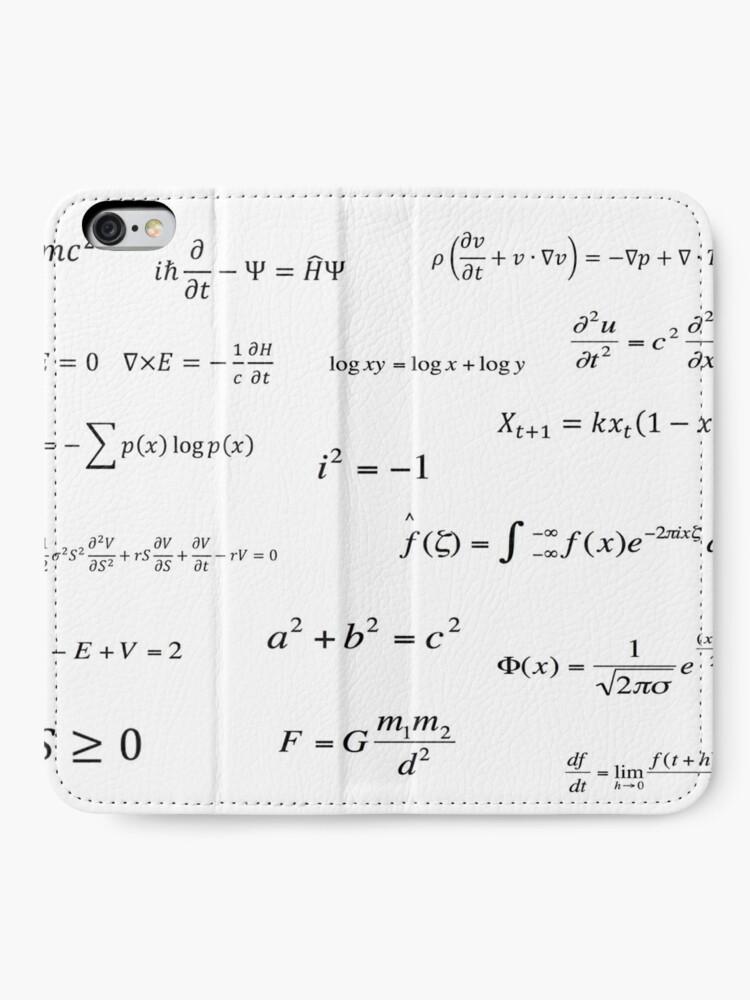 Vista alternativa de Fundas tarjetero para iPhone Ecuaciones matemáticas