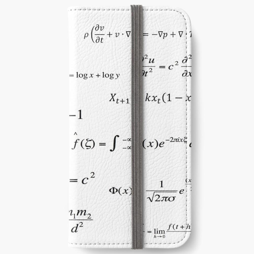 Ecuaciones matemáticas Fundas tarjetero para iPhone