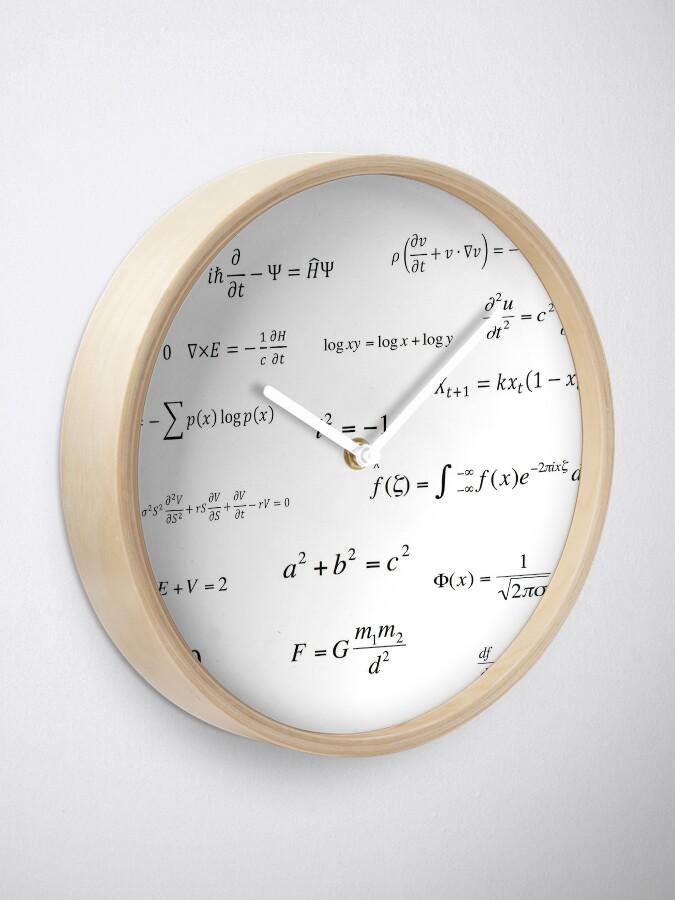 Vista alternativa de Reloj Ecuaciones matemáticas