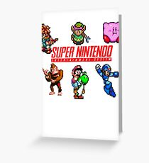 Super Nintendo Greeting Card