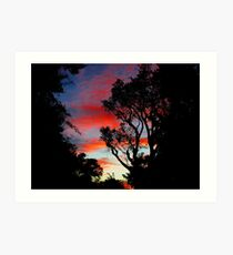 Bordeaux Mountain Sunset Art Print