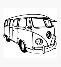 Vintage - Vw bus Photographic Print