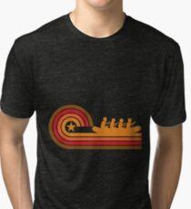 Retro Style White Water Rafting Vintage Tri-blend T-Shirt