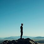 Alone at the blue summit by TheOtherErre