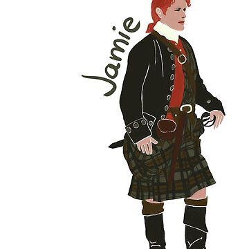 Jamie Fraser in kilt by EstrellaDLT