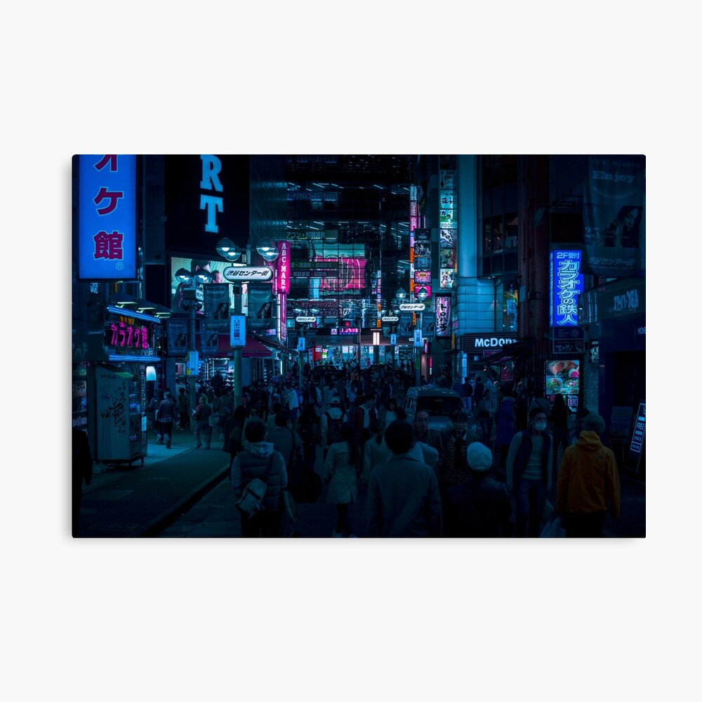 Shibuya Altered Carbon Canvas Print