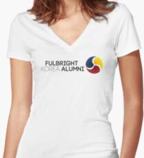 Fulbright Korea Alumni Alternative Logo 1 Women's Fitted V-Neck T-Shirt