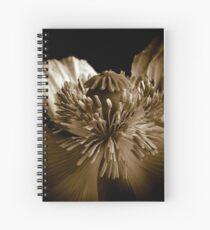 Sepia Poppy Spiral Notebook