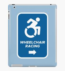 Wheelchair Racing This Way Sign iPad Case/Skin