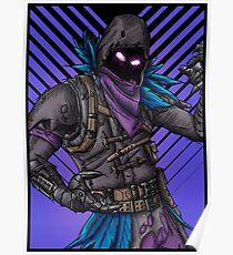 Raven - Fortnite Skin, Framed Poster
