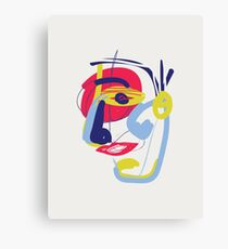 The Analytical Thinker  - Modern Abstract Brush Portrait Canvas Print