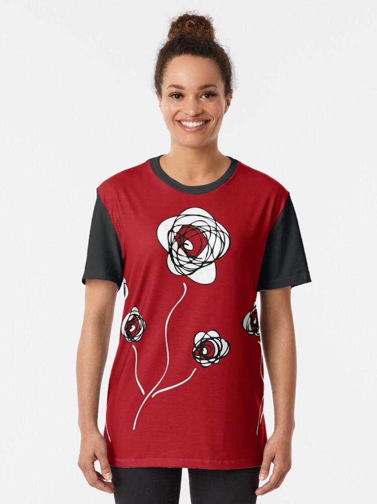 Alternate view of Ranunculus Graphic T-Shirt
