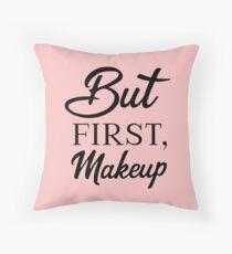 Cojín de suelo Pero Primer maquillaje, Cosmetóloga divertida, Cosmetología, Lápiz labial de belleza, Máscara de pestañas