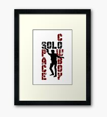 Solo, Space Cowboy Framed Print