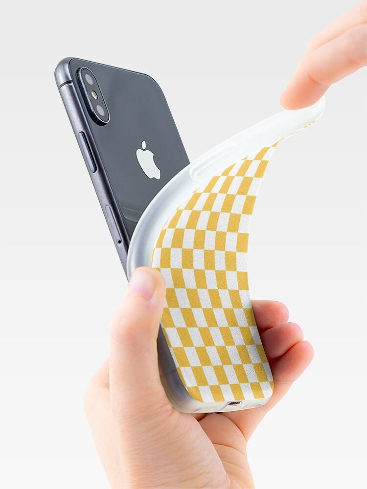 Alternative Ansicht von GELBER CHECK iPhone-Hülle & Cover