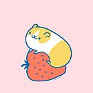 Hamster with Strawberry #1 by Zoe Lathey
