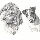 pet family drawing by Mike Theuer