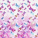 Pink and Blue - Dragonfly Lullaby by kreistyle