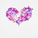 Pink and Blue - Dragonfly Heart by kreistyle